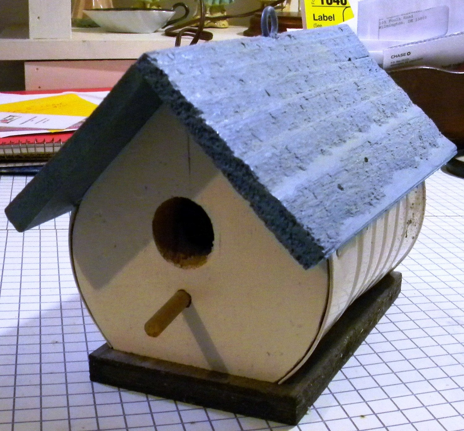 Handmade bird house made with recycled materials last one for House made by waste material