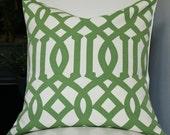 Kelly Wearstler Imperial Trellis Pillow Cover - 20x20 - Geometric Pillow - Green Pillow - Trellis Pillow