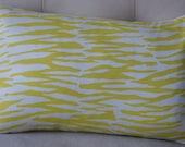 CLEARANCE - Decorative Pillow Cover - 12X18 - Trina Turk Pillow - Yellow Pillow - Designer Pillow