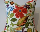 TWO Decorative Pillow Covers - Multi-color - Floral - 18X18