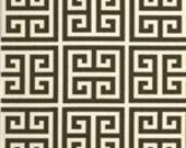 Greek Key Brown and Natural Pillow Cover - Print on BOTH SIDES - 20x20