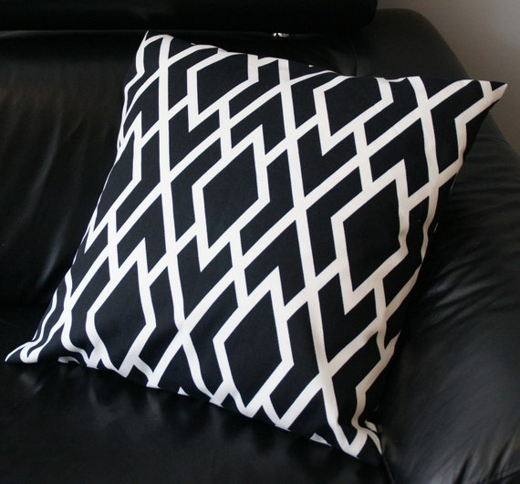 Throw Pillow Covers 25x25 : Reserved Two Decorative Pillow Covers Black and White