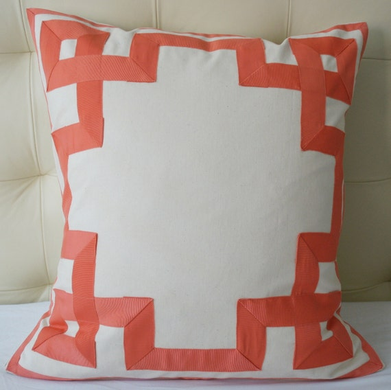 Reserved - Custom Greek Key Decorative Pillow - 24X24