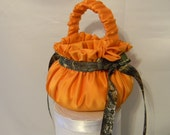 Flower Girl Basket Custom made in your choice of any colors and theme camouflage and orange