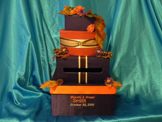 Items similar to money card box unique stack of gifts any - Violet and orange combination ...