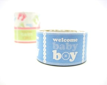 Removable Paper Decor Tape - Welcome Baby Boy