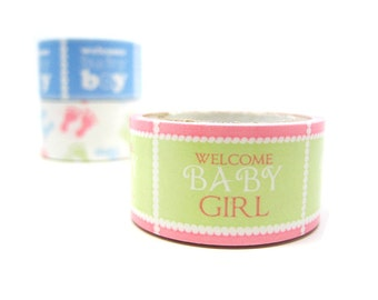 Removable Paper Decor Tape - Welcome Baby Girl