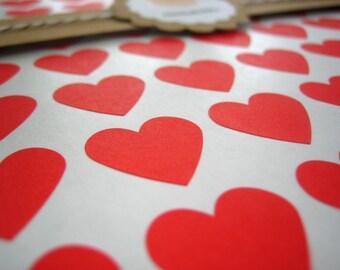 "Red Heart Sticker, Mini Heart Stickers - Set of 108, 0.75"" x 0.75"""