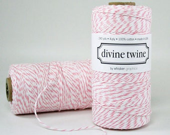 Pink Bakers Twine, Pink Cotton Twine - 240 yards Spool Baker String