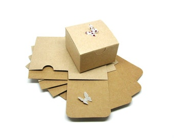 "Kraft Boxes Kraft Gift Boxes 3x3x2"" Set of 10 Shipping End of July 2016"