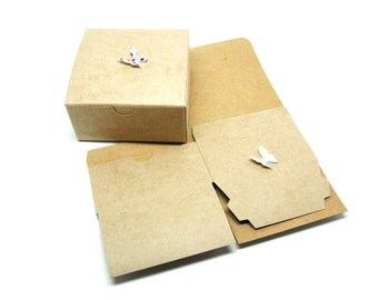 "Kraft Boxes - Gift Box - Kraft Packaging - Kraft Favor Box - Rustic Favor Box, 4x4x2"", Set of 20"