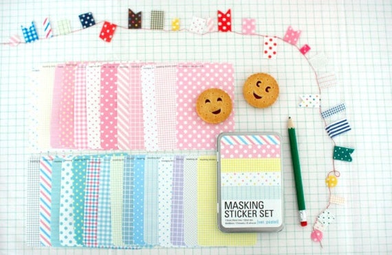 Pastel Pattern Masking Sticker Set - Refill