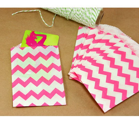 "Pink Favor Bag, Pink Bag, Set of 20, 2.75"" x 4"""