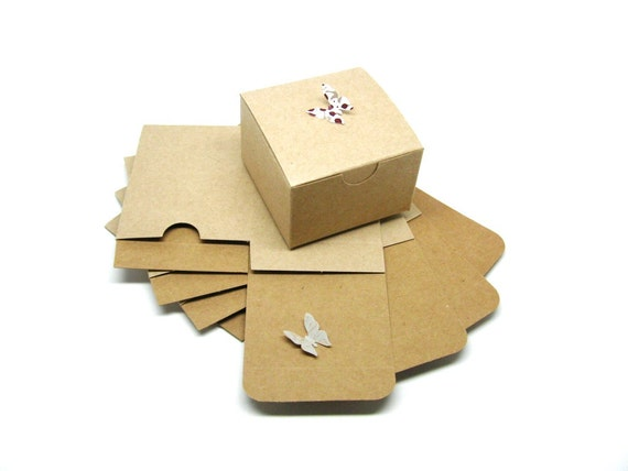 "Kraft Boxes - Kraft Gift Box - Packaging Box - 3x3x2"" - Set of 20"