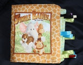 Jungle Babies cloth book with tags