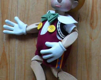 Marionette Pinocchio from CzechMarionettes traditional hand carved collection (made in Czech Republic)