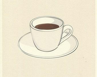 Coffee Cup Print 8.5x11