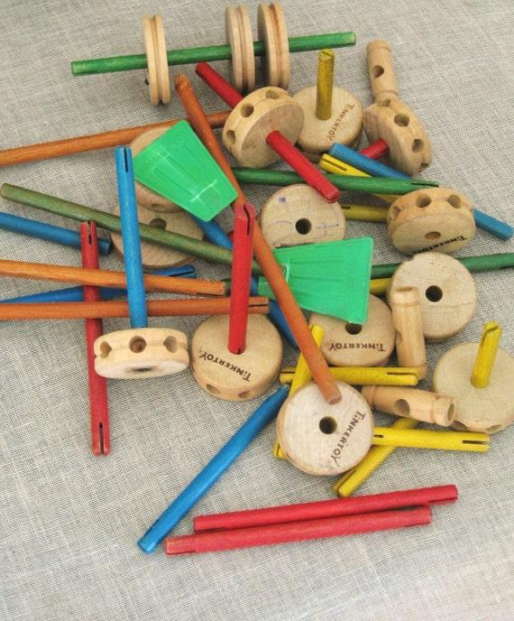 VintageTinker Toys- Odd Bits/ Assemblage
