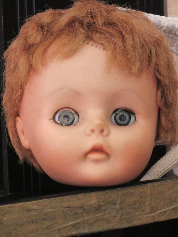 40% off Entire Shop - Vintage Doll Head- Doll Parts / Toys