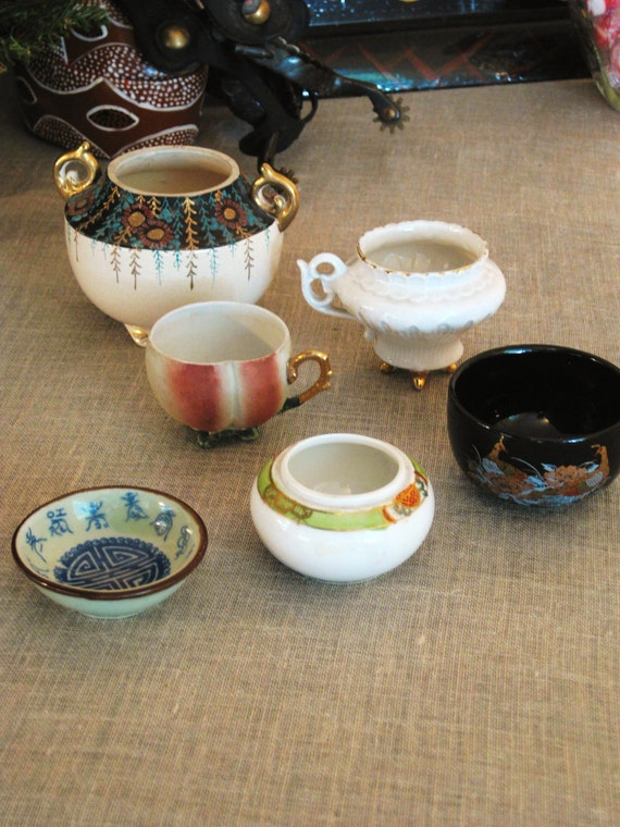 Collection of Vintage and Antique Bowls- Vases/ Baskets/ Floral