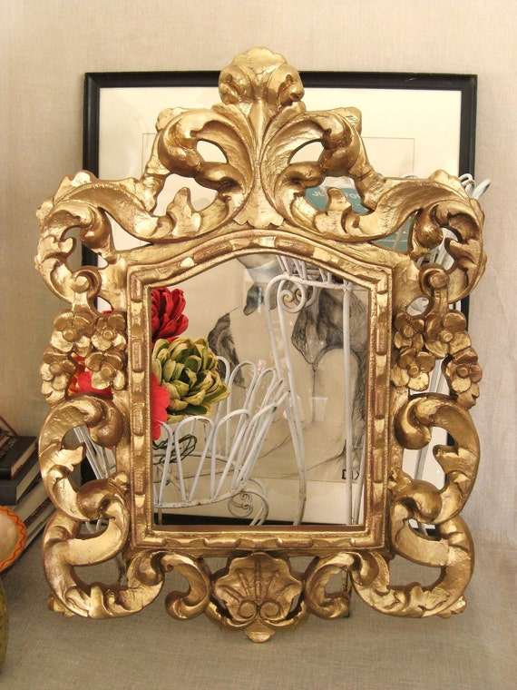 Aged Gold Roccoco Frame - Frames/ Mirrors