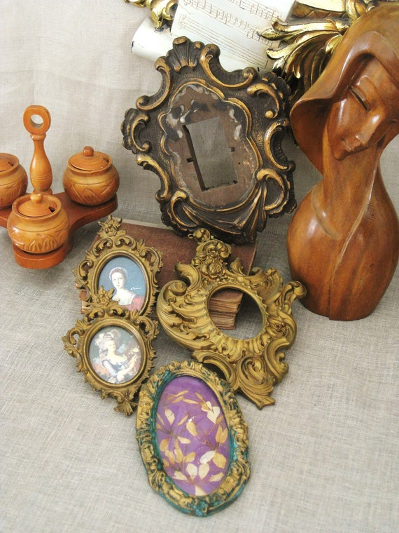 Vintage Collection of Gold Rococco Frames - Frames / Mirrors