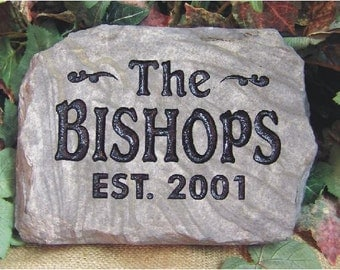 Greet friends and family with fun, natural Welcome Stones