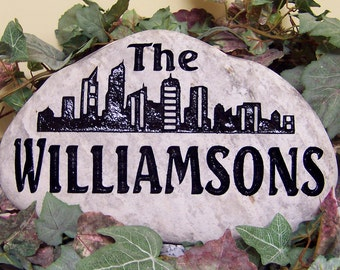 Engraved ROCK Welcome STONES for Porch, Garden, Entry,