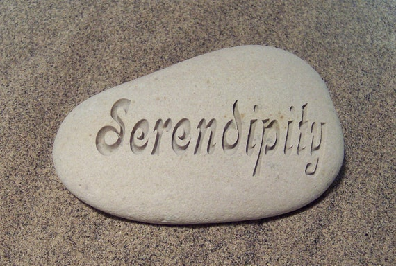 Engraved River Stone Valentines Serendipity Rock
