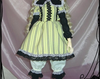 bjd  dollfie  (Bitter  & Sweet)  yellow-black  lolita outfit