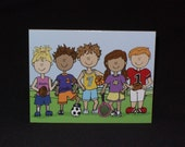 8 Blank Athletic Kids Cards Sara's lil Squirts