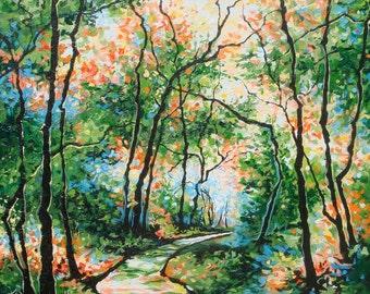 Geneva - Original Acyrlic Painting by Sara Larson