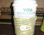 Fun Green Plaid Coffee Cup Cozy
