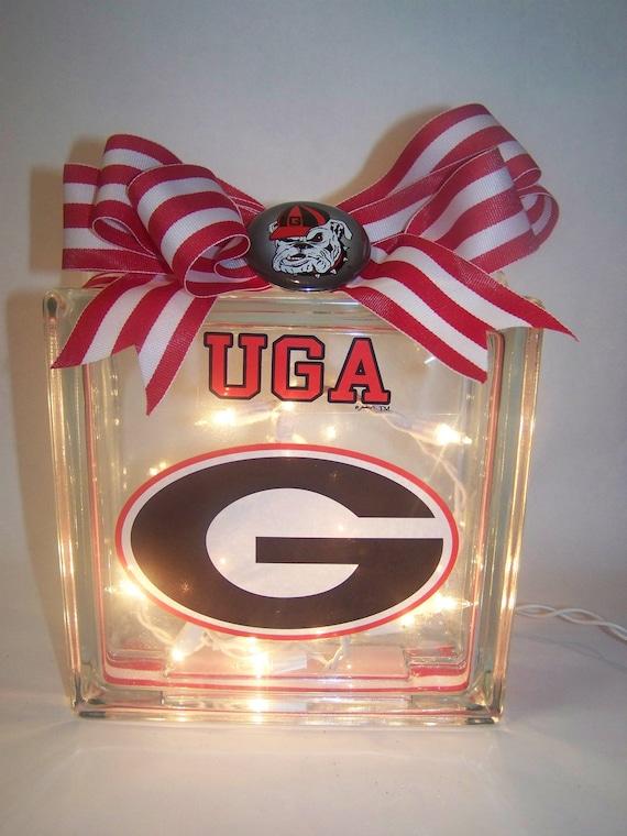 Georgia Bulldogs Lighted Glass Block
