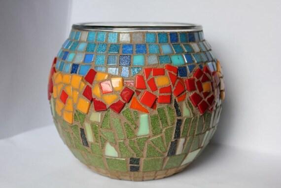 Flower Garden Mosaic Candleholder