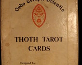 Antique Deck of Aleister Crowley Thoth Tarot Cards in Original Box- occult, gypsy, tarot, runes, oddities, curiosities