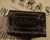 REDUCED - GOTHIC ANTIQUE Pill Box Victorian Papier Mache