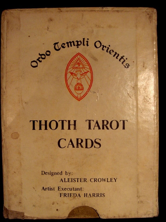 Antique Tarot Card The Fool: Antique Deck Of Aleister Crowley Thoth Tarot Cards In Original