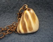 Brown and Tan Shell Necklace