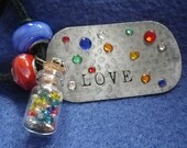 "Dog Tag ""Love"" Necklace"