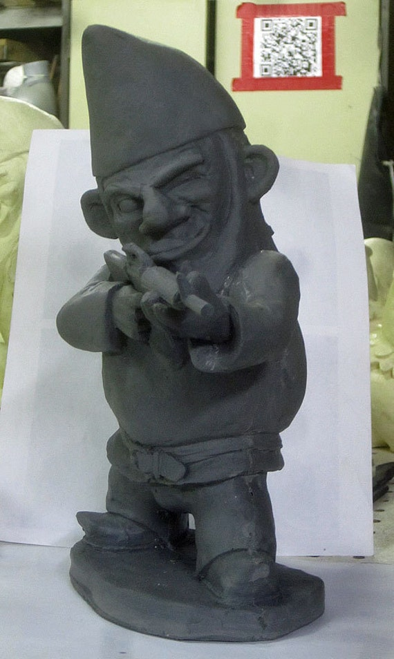 Unpainted combat garden gnome in standing position with m 16 for Combat garden gnomes