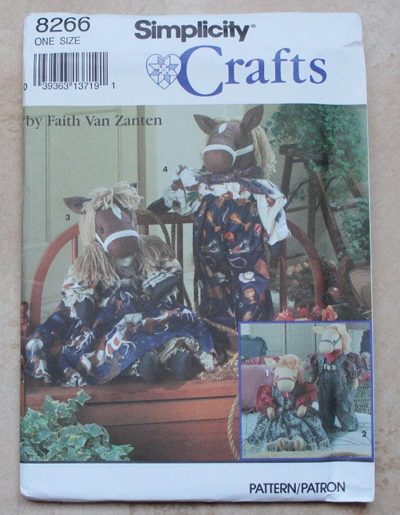 Vintage Simplicity Crafts Pattern 8266 - Decorative Boy and Girl Horse and Clothes