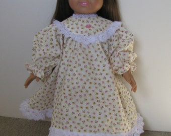"American Girl style Pioneer dress with pantaloons 18"" doll"