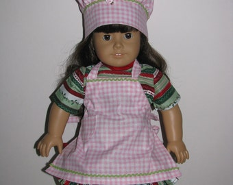 Chef hat and apron for American Girl Style Dolls