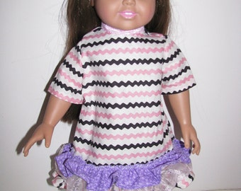 American Girl Doll Style Tiered Dress
