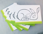 Rabbit Baby Bunny Card - Set of 5