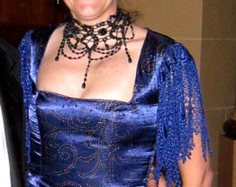 CosPlay Victorian Blue Sparke Bodice Dickens, FREE SHIPPING