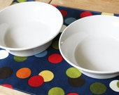 Pet-Mat - Blue with color spots - the Placemat for your Dog or Cat's Bowl: Small Size LAST ONE available in this style