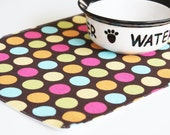 Pet Placemats - Ready to Go... Pet-Mats (Placemat for your Dog or Cat's Bowl) that are done and ready : Small Size