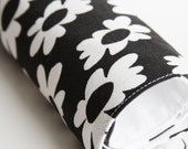 Large Pet-Mat - Black with White Flowers: Large Size LAST AVAILABLE in this STYLE